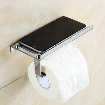 1 Pc Stainless Steel 304 Roll Paper Mobile Phone Holder with Shelf Towel Rack Toilet Tissue. >>>>
