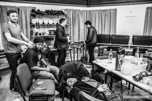 A day in the life of INCOGNITO backstage, Jan 2016 – Simon Lewis Photography