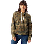 Alternative Day Off Printed Burnout French Terry Hoodie S Camouflage Green , Alternative Apparel