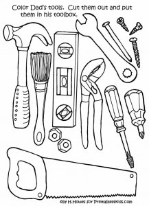 repair tools coloring  crafts and worksheets for preschooltoddler and kindergarten
