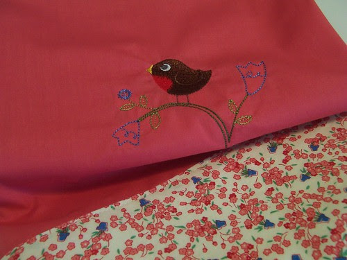 Vintage Inspired Pillowcase with Bird