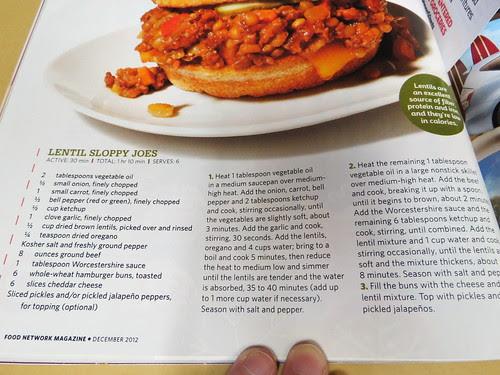 Lentil Sloppy Joes Recipe from Food Network Magazine