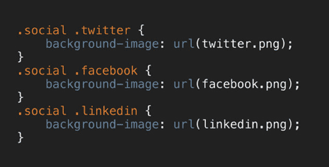 Slide showing selector as .social .twitter