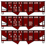 Accurail ACU24295 HO Scale Buffalo & Susquehanna USRA Twin Hopper Set