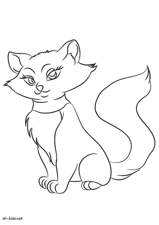 Activité de coloriage chat Dessin 58 Dessin gratuit chat pour imprimer et colorier