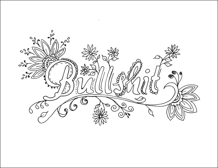 33 Adult Coloring Books With Swear Words - Free Printable Coloring Pages