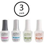 Gelish Fantastic Four Essentials Soak Off Gel Nail Polish Kit, 15 mL (3 Pack) by VM Express