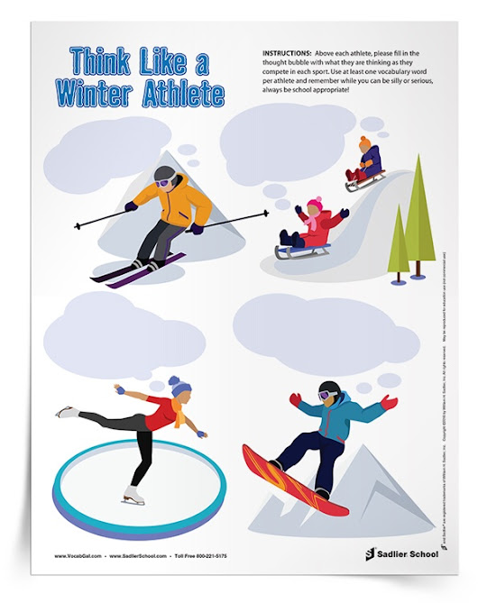 Winter & Holiday-Themed Activities Students Can Use to Review Vocabulary and Improve Writing