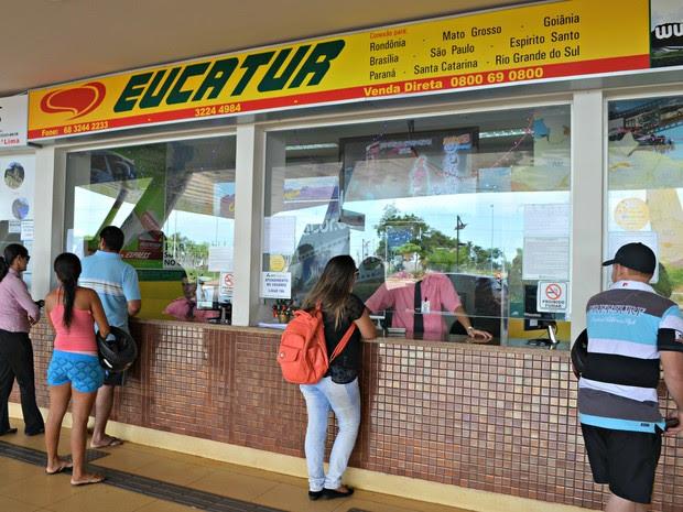 No fim de ano, procura por passagens tem crescido em Rio Branco  (Foto: Aline Nascimento/G1)