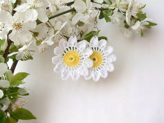 Crocheted  Earrings-summer-Please select the number of earring. - RoseClef