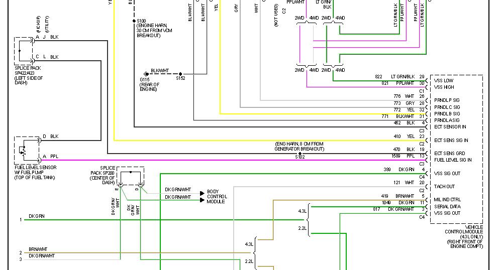 2001 S10 Pickup Wiring Harnes Diagram