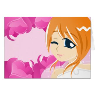 Bride of the Pink Rose:Red w/ Blue Eyes Card card