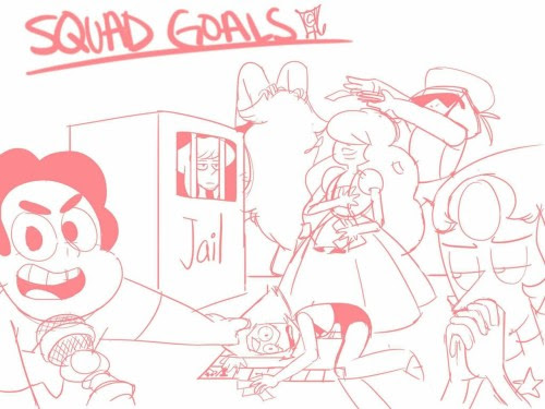 Decided to try out the squad goals meme   (Source: lilbabyree)