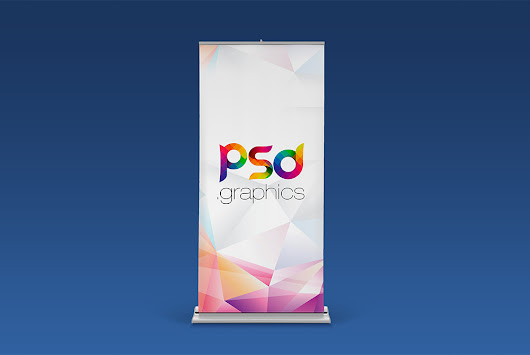 Roll Up Banner Mockup Free PSD | PSD Graphics