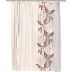 "Carnation Chelsea Fabric Shower Curtain in Chocolate, Size 70""x96"""