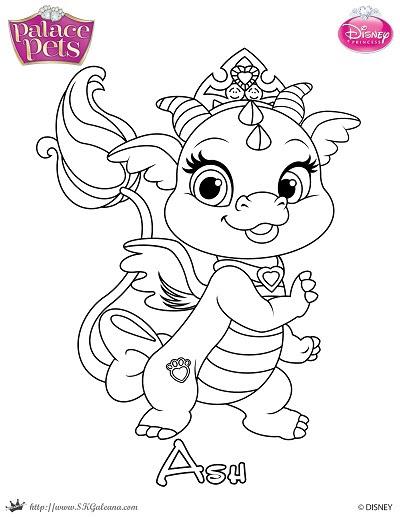 - Free Princess Palace Pets Coloring Page Of Ash SKGaleana - Coloring Pages