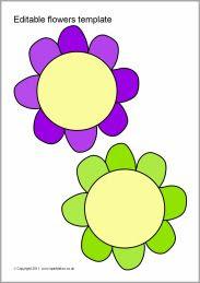 Editable flowers template (SB6806) - SparkleBox   Tuin Lesideeën ...