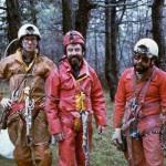 Anni '80 Carso Triestino, da sx Pino Guidi, Lelo Pavanello e Mario Gherbaz