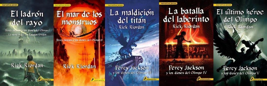 Resultado de imagen para saga de libros percy jackson