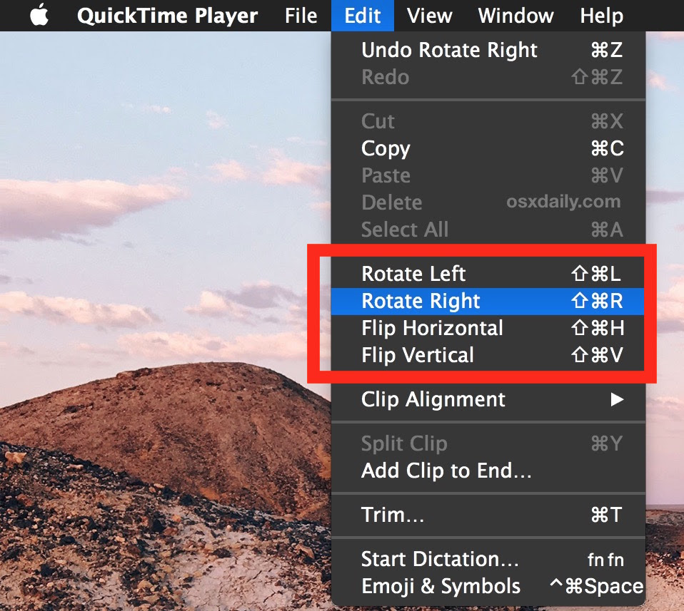How to Rotate Videos in Mac OS X