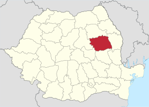 Location of province xy (see filename) in Romania.
