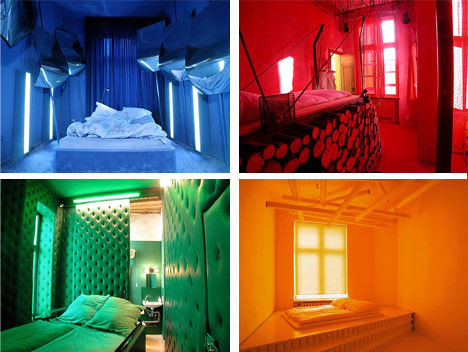 room colors and moods. Brightly Colored Hotel Room