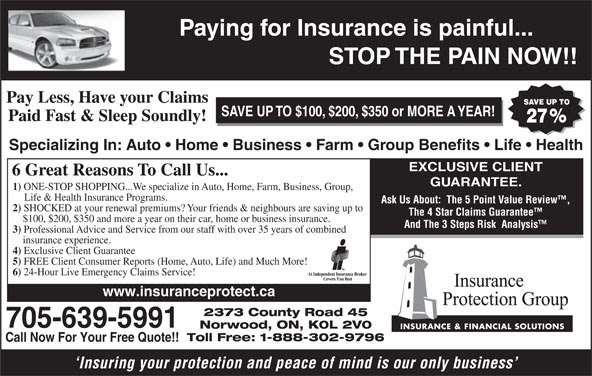 Insurance Protection Group - Opening Hours - 2373 County ...