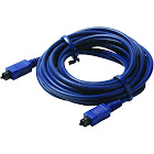 Steren - Video / digital audio cable (optical) - molded - Blue - 12 ft - M TOSLINK to M TOSLINK