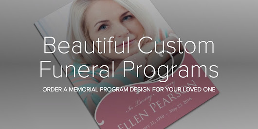 Beautiful Custom Funeral Programs