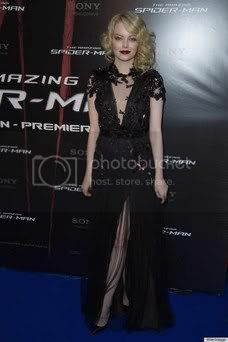 Emma Stone Gothic Dress at 'The Amazing Spider-Man' Paris Premiere