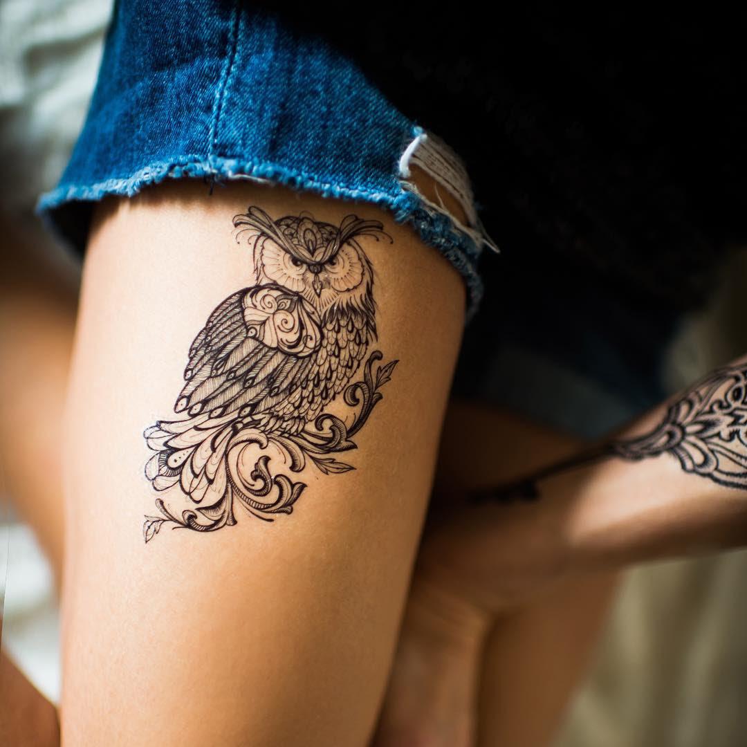 Tribal Owl Tattoo Best Tattoo Ideas Gallery