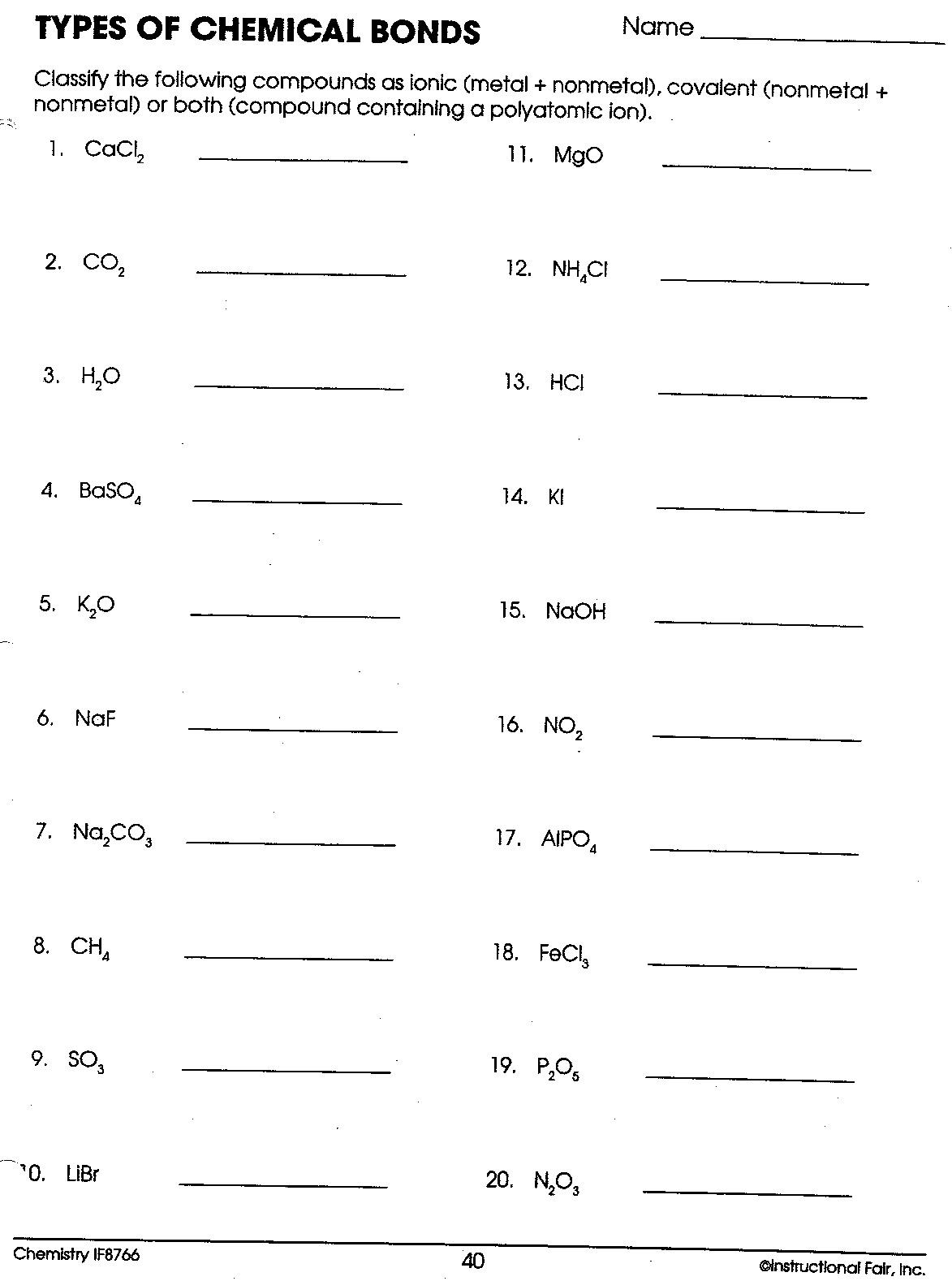 Ionic And Covalent Bonds Lewis Structure Worksheet - Amashusho Inside Lewis Structure Practice Worksheet