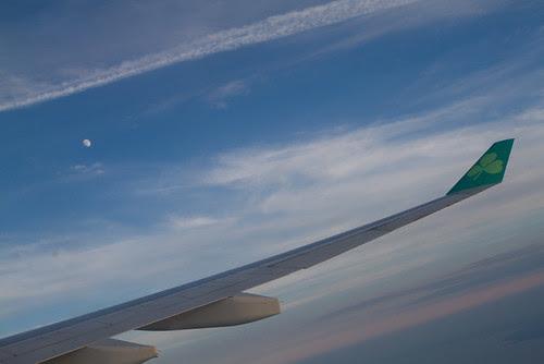 Flying over Ireland