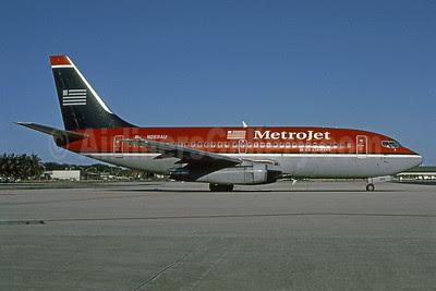 MetroJet-US Airways Boeing 737-2B7 N269AU (msn 22881) MIA (Bruce Drum). Image: 101081.