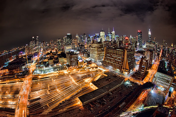 A Distorted View of New York (c) Ron Martinsen - ALL RIGHTS RESERVED
