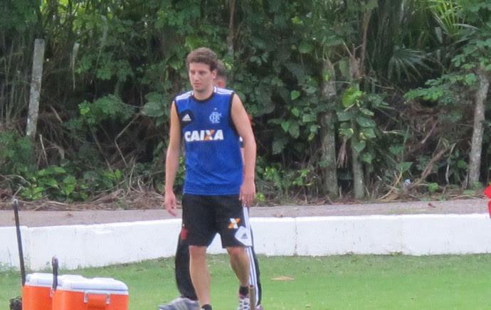 Elano Treino Flamengo (Foto: Thales Soares)