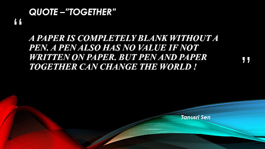 "QUOTE-""TOGETHER"""