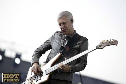 Adam Clayton takes the TUBE to the band's London gigs last year