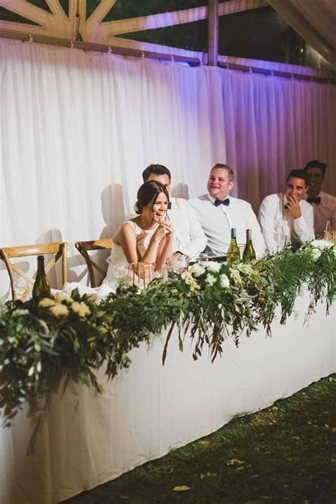 87 best images about Bride & Groom table set up on
