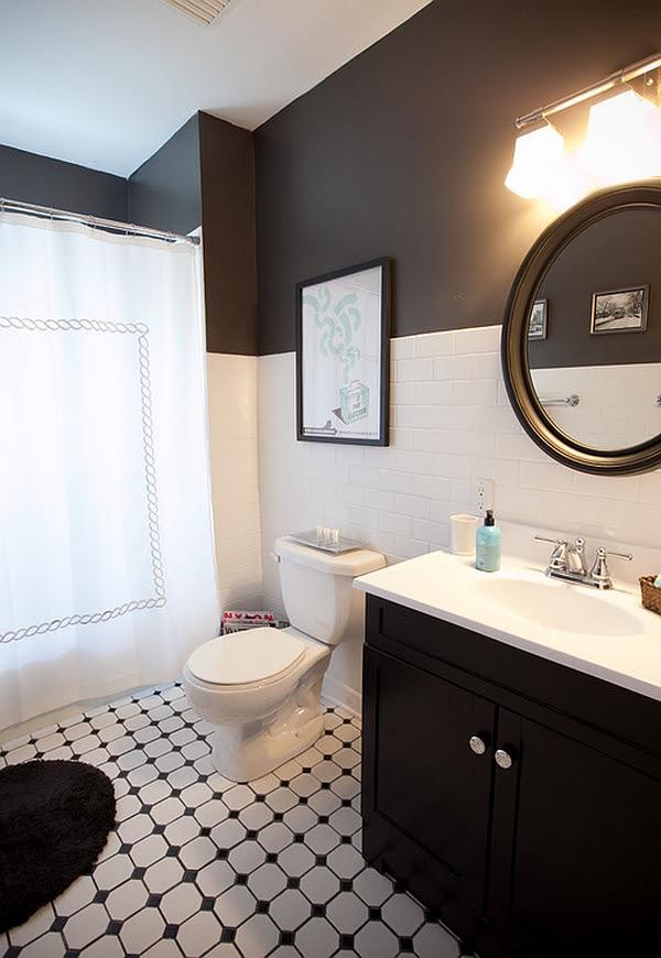 Black And White Bathroom Design Inspirations