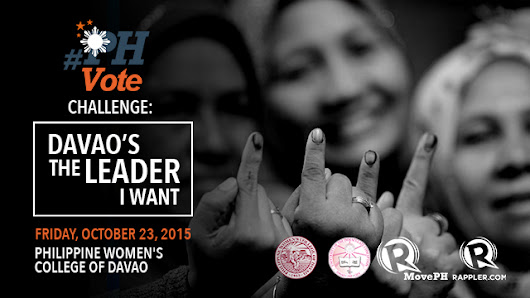 #PHVote Challenge goes to Davao City