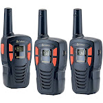 Cobra - MicroTALK 16-Mile, 22-Channel FRS/GMRS 2-Way Radios (3-Pack) - Red/Black