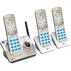 VTech - at DL72319 DECT 6.0 Expandable Cordless Phone System with Digital Answering System - White/Champagne