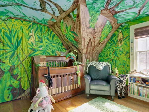 25 Cool Jungle  Inspired Kids Room Designs  DigsDigs