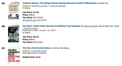 Bestsellers in Books: #46 Web Marketing