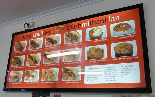 fresh chilli menu