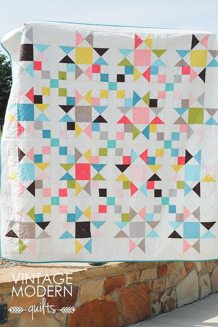 Stars and 4-Patches Quilt Inspiration   Modern Quilting
