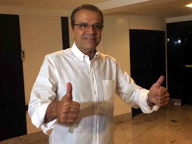 Henrique Eduardo Alves disputará o segundo turno para o governo do RN com Robinson Faria (Foto: Fernanda Zauli/G1)