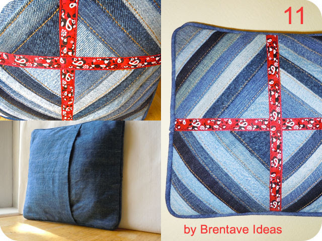 Brentave Ideas Giveaway Denim Pillow
