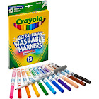 Crayola Washable Fine Point Markers, Assorted - 12 count